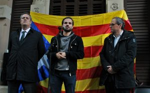 Quim Torra (right), current president of the Catalan Parlament at an act of homage to the proto-fascist Badia brothers